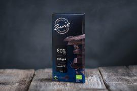 Mørk sjokolade uten melk fra Made By Berit Nordstrand med 80% kakao