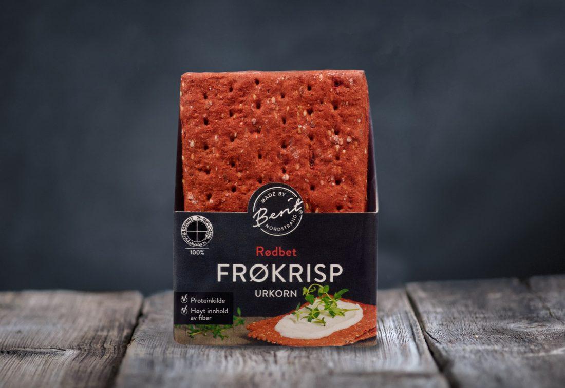 Sunne knekkebrød fra Made By Berit Nordstrand, Rødbete Frøkrisp Urkorn