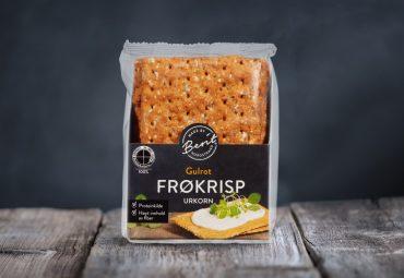 Gulrot Frøkrisp Urkorn fra Made By Berit Nordstrand, vegan knekkebrød
