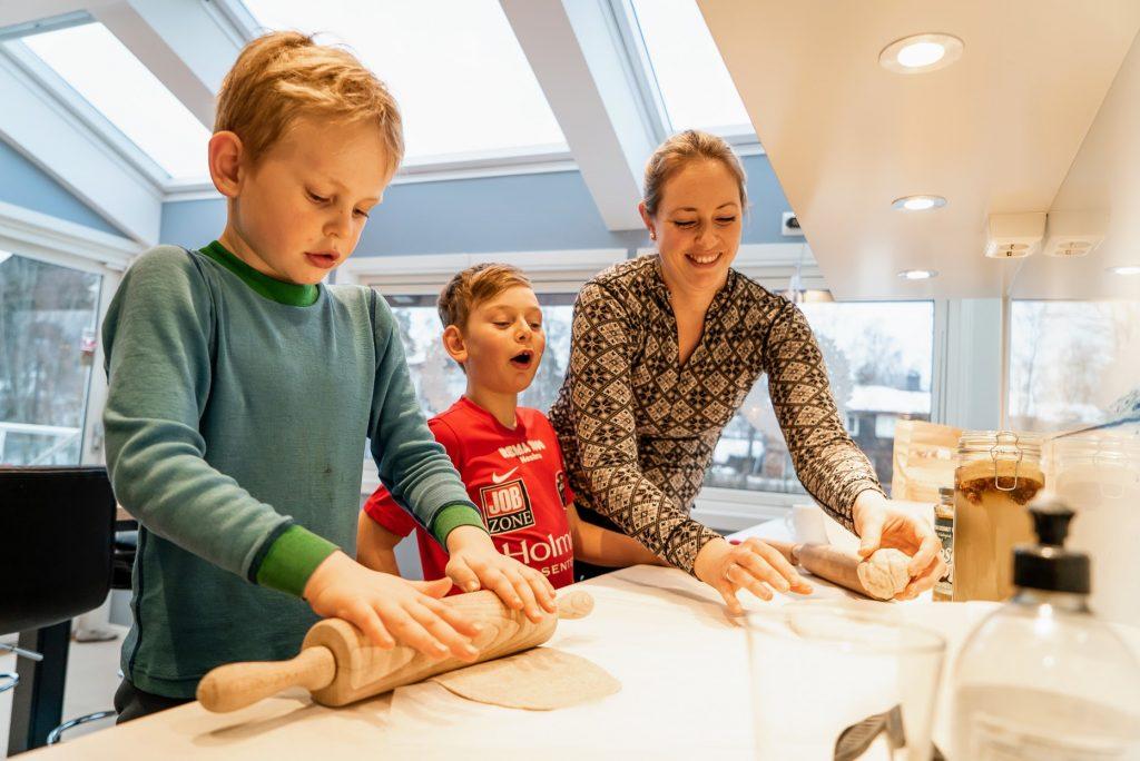 lage tortillalefser med barna