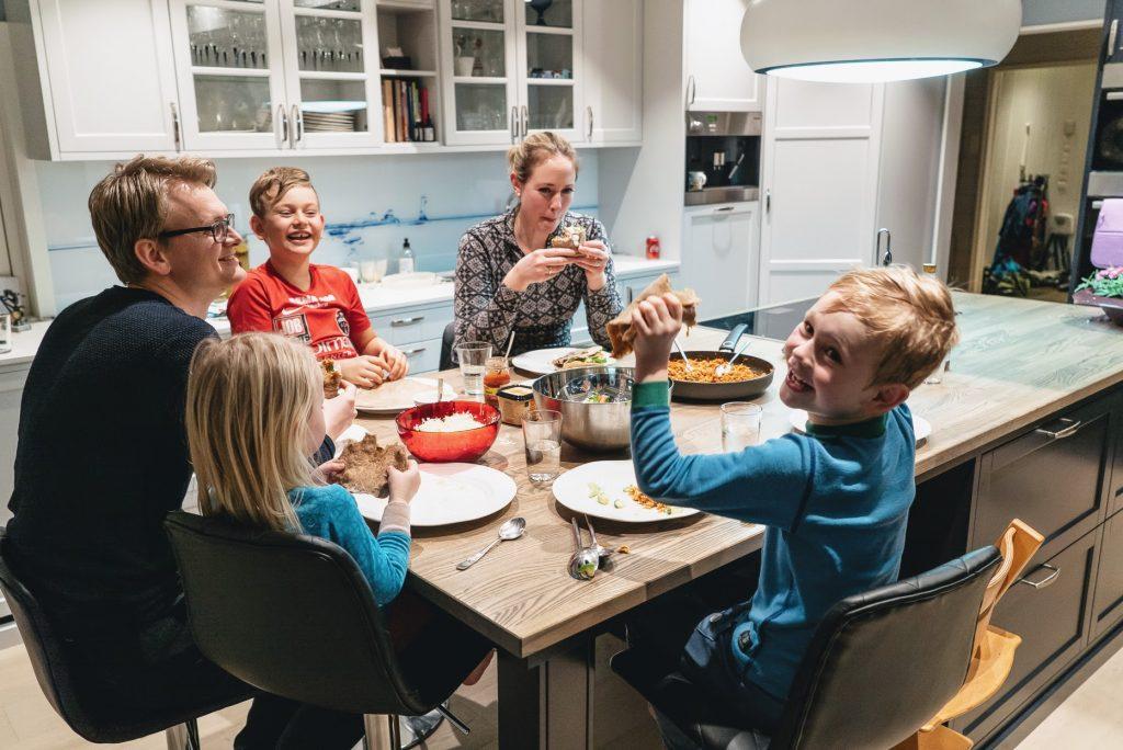 Kjøttfri familiemiddag