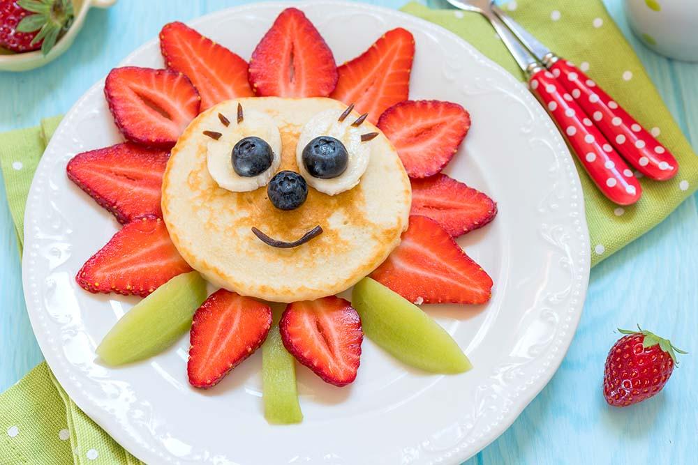 Sunne pannekaker og tilbehør til barna
