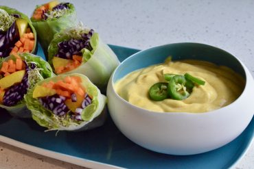 Veganske vårruller med spicy asiatisk dip