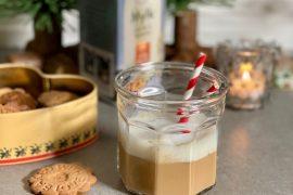 Melkefri kaffe latte med lakris
