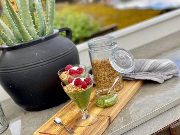 Melkefri chiapudding med matcha
